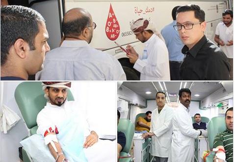 في عام التسامح مركز جمعة الماجد ينظم حملة للتبرع بالدم